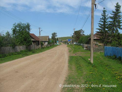 Деревня  Новобирючево Нуримановского района Башкирии