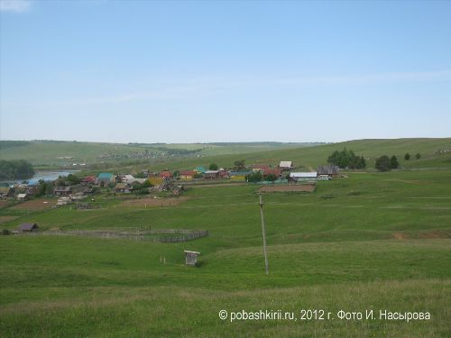 Вид на деревню Новобирючево Нуримановского района Башкирии