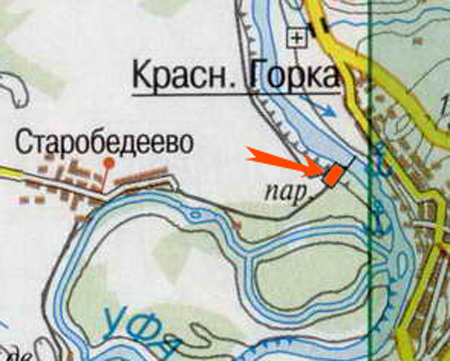 Карта Нуримановского района Башкирии