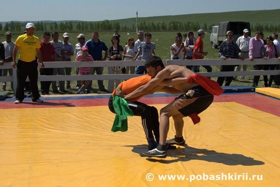 Башкирская народная борьба Курэш