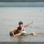 Купание в озере Кандрыкуль, Башкирия
