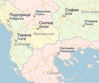 Албания на карте