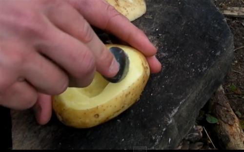Как сварить яйца в лесу без посуды