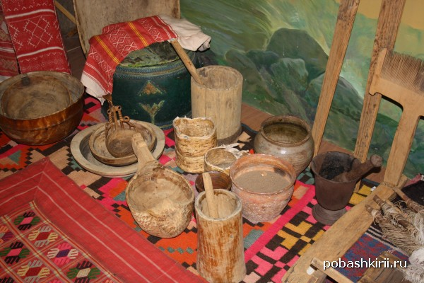 Экспонаты быта башкир в 18 веке