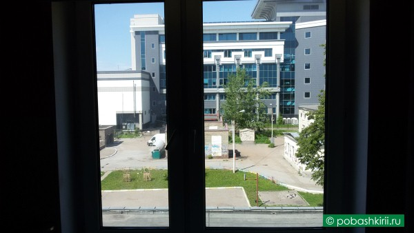 Вид из окна уфимской квартиры