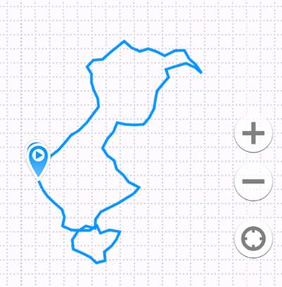 Карта в геотрекере