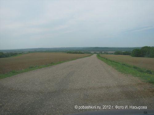 Дорога в Новобирючево Нуримановского района Башкирии