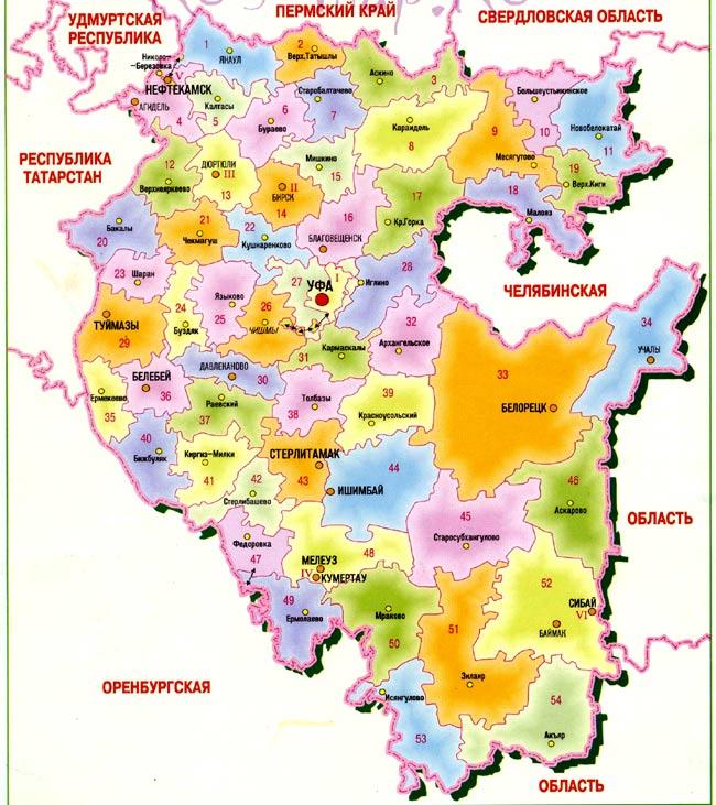 Муниципальные районы Республики Башкортостан