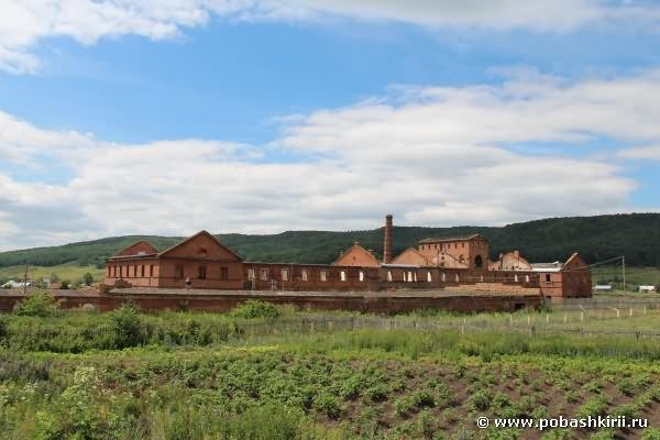 Вид на медеплавильный завод в селе Воскресенское Мелеузовского района