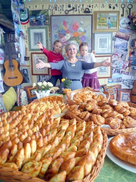 Елены Маньенан, дети и пироги