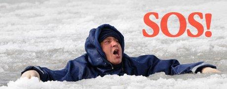 Человек провалился под лед что делать