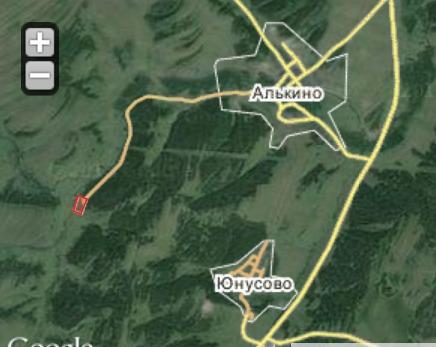 Деревня Текеево на карте