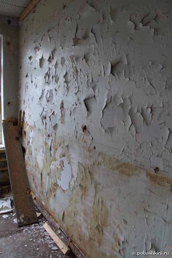 Обшарпанная стена в клубе