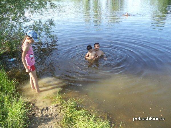Купание в пруду Тугар Салган